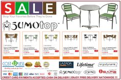 Enjoy the Summer while relaxing to these comfy Aluminum Table Sets.  Get 20% Off Discount when you buy these Aluminum Table Sets @ Lazada Online Shop. It's Free Delivery Anywhere in the Philippines! Credit Card Payments Accepted & Cash On Delivery! Check it here: http://www.lazada.com.ph/catalog/?q=at+60r+table+set+cost+u+less