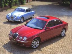 Jaguar S-Type, pictured alongside an original example from the 1960's