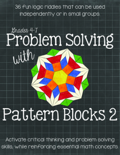 Grades 4-7. Students must analyze five clues in order to correctly arrange six different Pattern Blocks in a specific arrangement within a 5 x 4 Matrix. These tasks are designed to activate and expand students' logical reasoning skills while reinforcing various geometry concepts. $