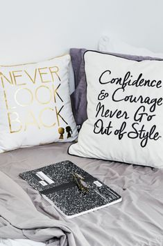 Inspiration meets style with the new BOY MEETS GIRL®accent pillows. 😍 A percentage of the proceeds from the entire collection is donated back to National School Climate Center's program to combat intolerance in schools. Accent Pillows, Bed Pillows, National School, Boy Meets Girl, Girl House, Out Of Style, Schools, Pillow Cases, Porcelain