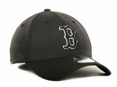 Boston Red Sox New Era MLB Black and White Ace 39THIRTY Hats