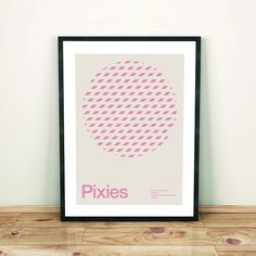 Pixies Remixed Gig Poster Art Print Music Poster