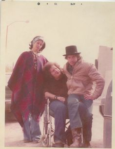 "Bob & Sara Dylan with Bob's childhood friend, Larry Kegan. Larry performed on stage with Bob on several occasions. Bob also dedicated his album ""Street Legal"" to Larry."