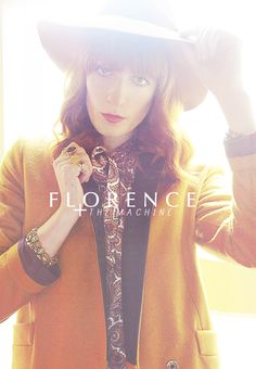 """I want my music to sound like throwing yourself out of a tree, or off a tall building, or as if you're being sucked down into the ocean and you can't breathe. It's something overwhelming and all-encompassing that fills you up, and you're either going to explode with it, or you're just going to disappear."" Florence Welch"