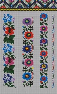 This Pin was discovered by Мни Cross Stitch Borders, Cross Stitch Rose, Cross Stitch Flowers, Cross Stitch Designs, Cross Stitching, Cross Stitch Patterns, Folk Embroidery, Embroidery Patterns Free, Beading Patterns