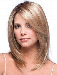 Image result for shoulder length thick hair with face framing layers