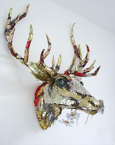 Red Deer Stag Head