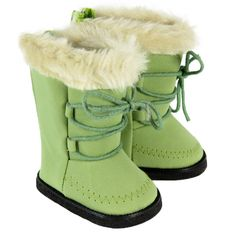 Silly Monkey - Green Boots with Fur Trim, $9.00 (http://www.silly-monkey.com/products/green-boots-with-fur-trim.html)