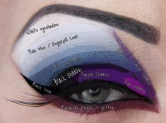 As always, start with primer Apply dark purple eyeshadow ( Sugarpill Poison Plum ) to whole lid Apply black sha. Evil Queen Makeup, Evil Makeup, Witch Makeup, Makeup 101, Makeup Ideas, Diy Snow White Costume, Snow White Makeup, Evil Queen Costume, Halloween Make Up