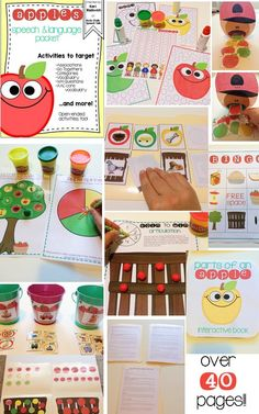 Apple Speech and Language Unit; great for Fall and Back to School themes!