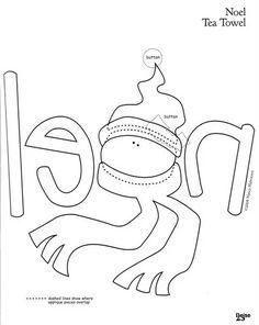 Patchwork by Vanessa Raquel Christmas Crafts Sewing, Christmas Applique, Christmas Art, Sewing Crafts, Applique Templates, Applique Patterns, Applique Designs, Quilt Patterns, Stitching Patterns