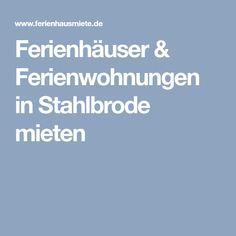 Ferienhäuser & Ferienwohnungen in Stahlbrode mieten