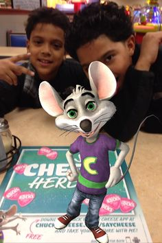 Chilling with Chuck E.! #saycheese