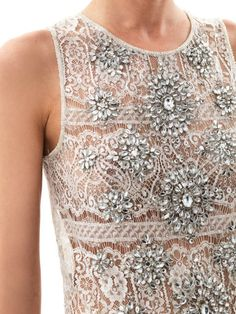 tops haute hippie tops haute hippie silver crystal embellished lace ...