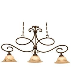 Kalco Amelie 3 Light Kitchen Island Pendant Finish: Antique Copper, Shade Type: Buddha Leaf- NS09