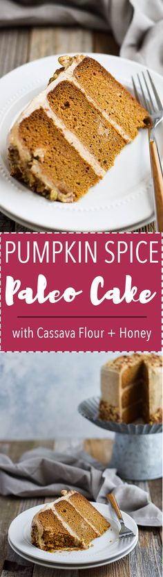 Paleo Pumpkin Cake with Vanilla Almond Butter Frosting. {Gluten Free, Dairy Free, Nut Free Option}