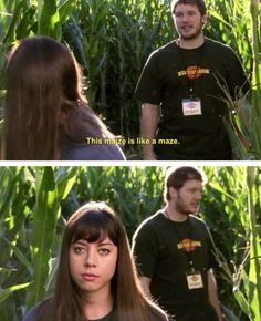 This MAIZE is like a MAZE. (Parks and Recreation)