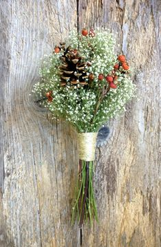 Classic Winter Bouquet Dried Wedding or Holiday Decor