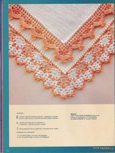 crocheted edgings = several with patterns