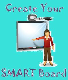 My classroom already has a Promethean, but this is neat. Interactive Education: Make your own SMART Board Smart Board Activities, Smart Board Lessons, Teaching Technology, Educational Technology, Teacher Tools, Teacher Resources, Interactive Board, Interactive Sites, Music Education
