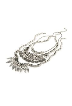 Coin Fringe Chain Necklace   FOREVER21 - 1000100093