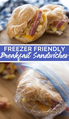 Whip up a batch of these Freezer Friendly Croissant Breakfast Sandwiches, then wrap them and pop them in the freezer. Croissant Sandwich, Croissant Breakfast Sandwich, Freezer Breakfast Sandwiches, Breakfast Recipes, Brunch Recipes, Easy Recipes, Homemade Croissants, Family Fresh Meals, Family Recipes