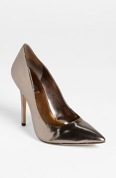 Ooh gunmetal pumps.  How many things could I wear this with?  BCBGMAXAZRIA 'Onnie' Pump available at #Nordstrom