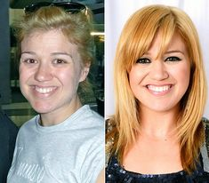 Kelly Clarkson  On left: meeting a fan at O'Hare International Airport in Chicago on June 16, 2012  On right: posing backstage at the Capital FM Summertime Ball in London on June 9, 2012
