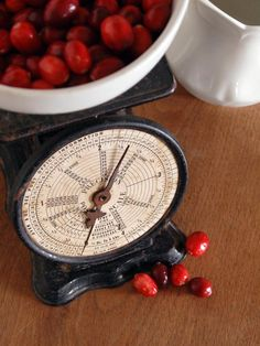 Scale Is Key- Antique and vintage scales are another great way to add character to the countertop. Not only do they look great when filled with seasonal produce or a stack of linens, but accurate ones can also be used to weigh dry ingredients for baking or portion sizes for meals. Don't limit your search to kitchen scales alone. Keep an eye out for postal scales, scientific balances and hanging grocery scales.