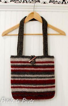 Petals to Picots Crochet: Felted Bag