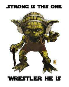 A long time ago in a galaxy far, far away.Yoda the wrestling coach before he took the easy option and became a jedi master. Original design Tim Kelly