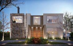Estudio NF y Asociados Plans Architecture, Modern Architecture House, Architecture Design, Design Your Dream House, Modern House Design, Dream House Plans, Modern House Plans, Village House Design, Facade House