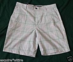 men shorts: #CHAPS men white shorts size 34 with green pattern flat front NWT (5% ELASTANE) withing our EBAY store at  http://stores.ebay.com/esquirestore