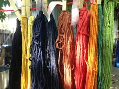 Selection of colors obtained from early period natural dyes.