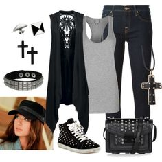 a little studded outfit