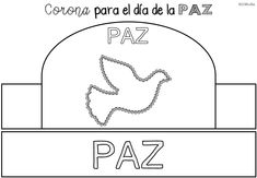 Coronas 3 Peace Crafts, Line Chart, Religion, Letters, Holidays, Frases, Peace On Earth, Peace Dove, Religious Education
