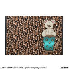 Coffee Bear Cartoon iPad Air Two Powis icase Powis iPad Air 2 Case