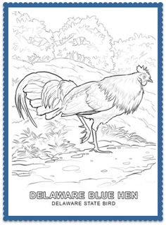 USA Printables Delaware State Stamp US States Coloring Pages