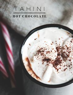 Tahini Hot Chocolate - vegan, glutenfree & sugar free | www.juyogi.com