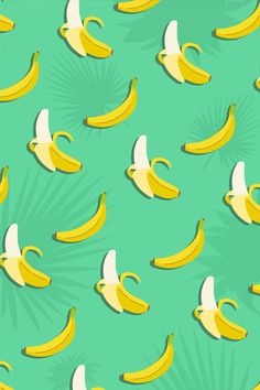 #Banana #Pattern / Download more #Fruity #iPhone #Wallpapers and #Backgrounds at @prettywallpaper