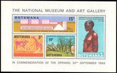 Botswana 1968 National Museum souvenir sheet unmounted mint.