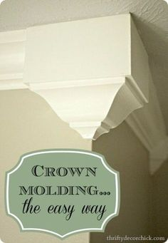 DIY: How to Add Crown Molding to Door and Window Headers  excellent tutorial shows how to use