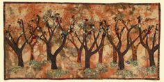Kathie Briggs - Contemporary Fiber Art - Gallery of Art Quilts: Art Quilts Landscape Art Quilts, Landscapes, Traditional Quilt Patterns, Tree Quilt, Contemporary Quilts, Textile Artists, Quilt Blocks, Fiber Art, Art Dolls