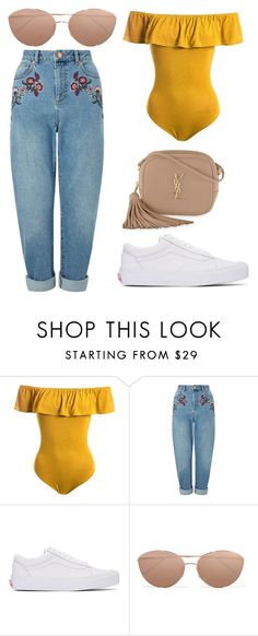 """Untitled #232"" by alisya97 ❤ liked on Polyvore featuring Sans Souci, Miss Selfridge, Vans, Linda Farrow and Yves Saint Laurent"