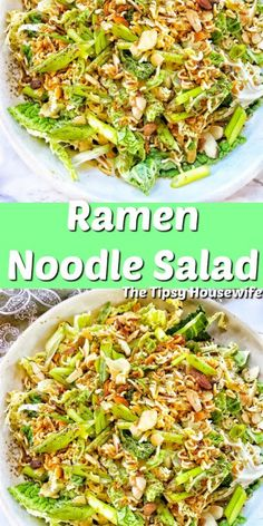 Ramen Noodle Salad is perfect for a side dish, lunch or add a protein for a delicious dinner! Easy recipe that makes a perfect lunch, side dish or dinner. Ramen Recipes, Easy Salad Recipes, Easy Salads, Summer Salads, Easy Meals, Dinner Recipes, Cooking Recipes, Healthy Recipes, Salads For Dinner