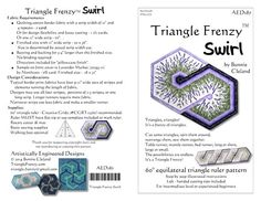 Sewing   Quilt   Table Runner   Triangle Frenzy Swirl #AED187   2016   DONE