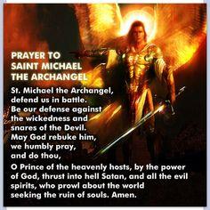 St Michael prayer. Reminds me of my days at SJN