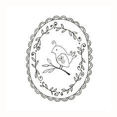 Bird Embroidery Pattern Woodland Critter Digital Downloadable