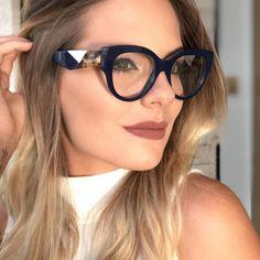 7d4ab3c7a2 mimiyou Fashion Cat Eye Glasses Frame Women Optical Eyewear Grace Lady  Eyeglasses Frame Clear UV400 Brand