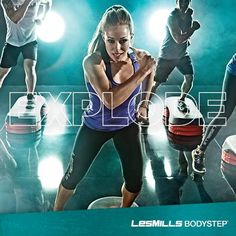 Explode: the burst of energy that results from launching yourself into the air repeatedly during #BODYSTEP.